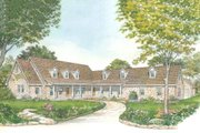 Country Style House Plan - 3 Beds 3 Baths 3389 Sq/Ft Plan #140-160 Exterior - Front Elevation