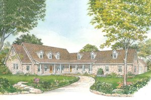 Country Exterior - Front Elevation Plan #140-160