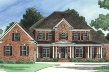 Colonial Exterior - Front Elevation Plan #1054-12