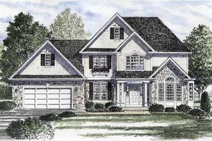 Country Exterior - Front Elevation Plan #316-193