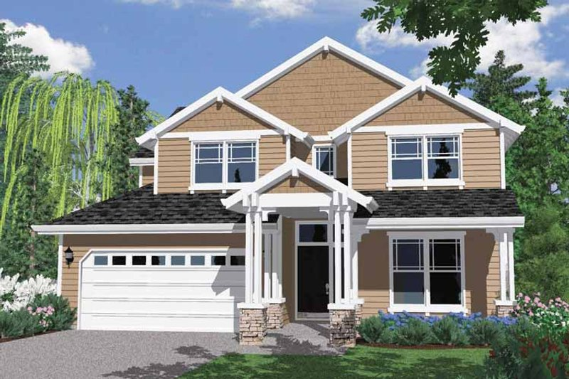 Traditional Exterior - Front Elevation Plan #509-286 - Houseplans.com