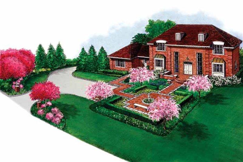 Exterior - Front Elevation Plan #1040-19 - Houseplans.com