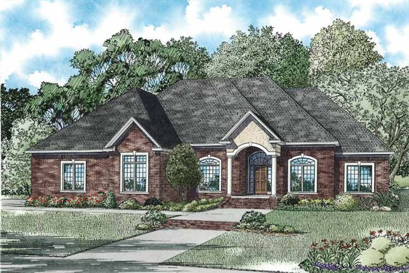 Country Exterior - Front Elevation Plan #17-3364