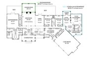 Craftsman Style House Plan - 3 Beds 2.5 Baths 2878 Sq/Ft Plan #119-424 Floor Plan - Main Floor Plan