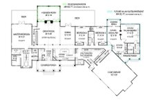 Craftsman Floor Plan - Main Floor Plan Plan #119-424