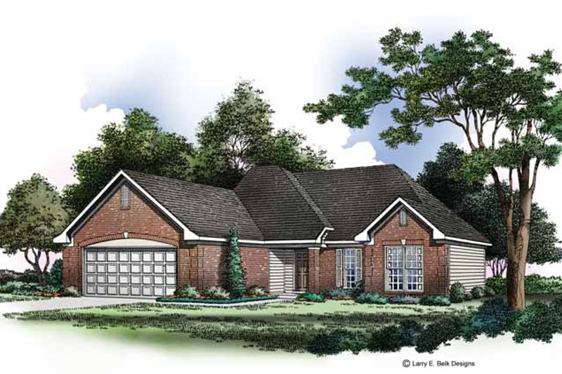 Ranch Exterior - Front Elevation Plan #952-170