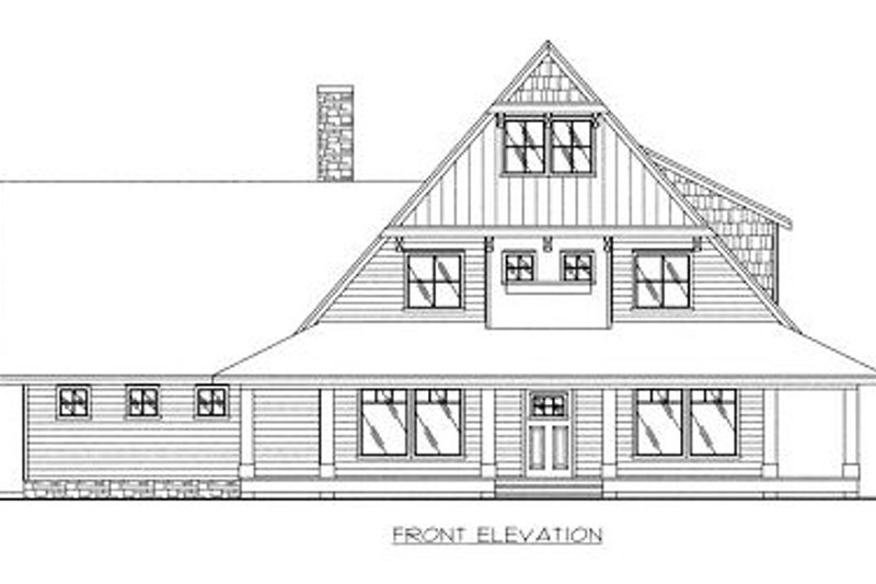 Country Exterior - Other Elevation Plan #117-536 - Houseplans.com