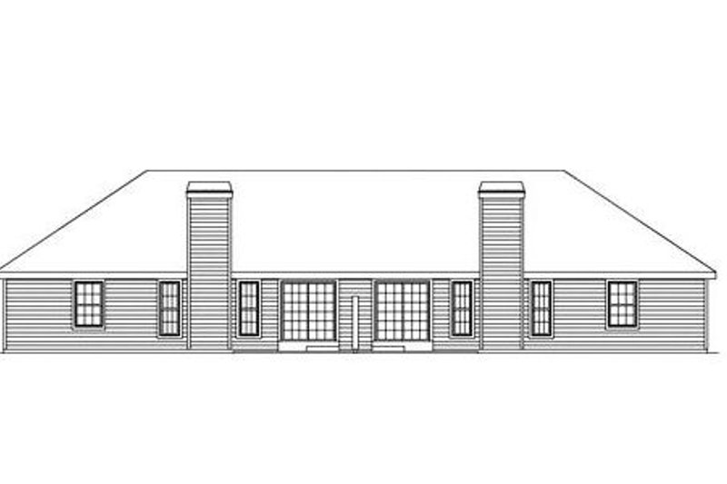 Traditional Exterior - Rear Elevation Plan #57-142 - Houseplans.com