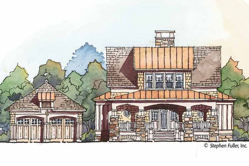 Craftsman Exterior - Front Elevation Plan #429-427 - Houseplans.com