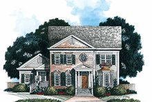Home Plan Design - Classical Exterior - Front Elevation Plan #429-167