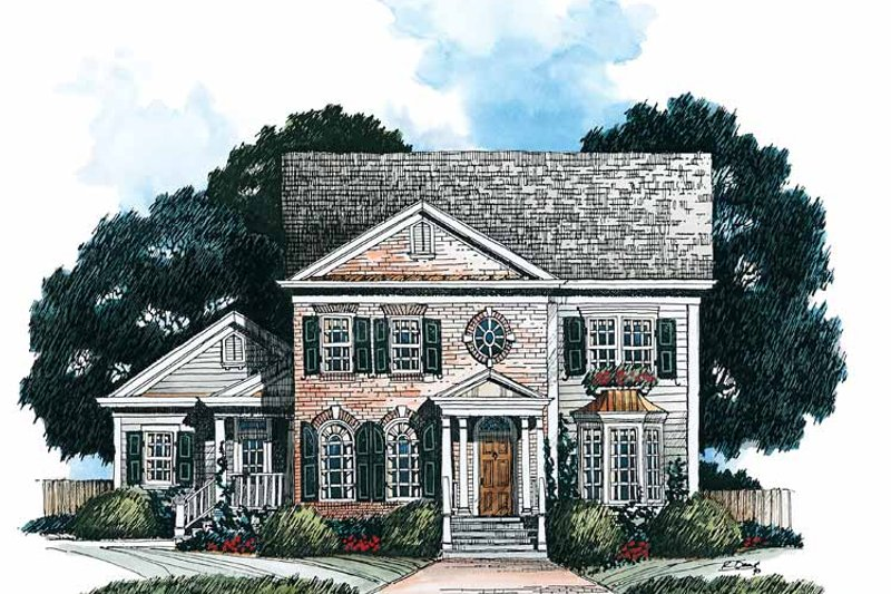 House Plan Design - Classical Exterior - Front Elevation Plan #429-167