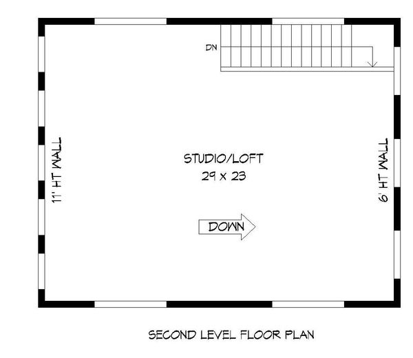 Contemporary Floor Plan - Upper Floor Plan #932-193