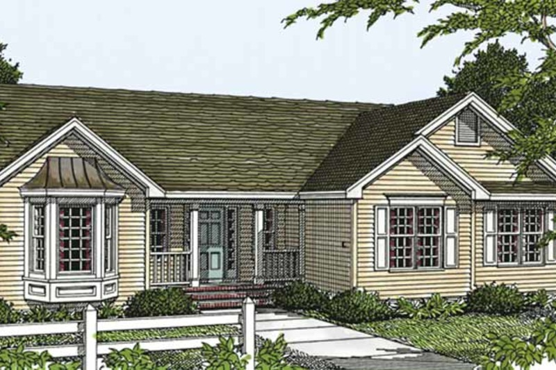 Country Exterior - Front Elevation Plan #977-14 - Houseplans.com