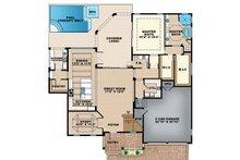 Mediterranean Floor Plan - Main Floor Plan Plan #1017-159