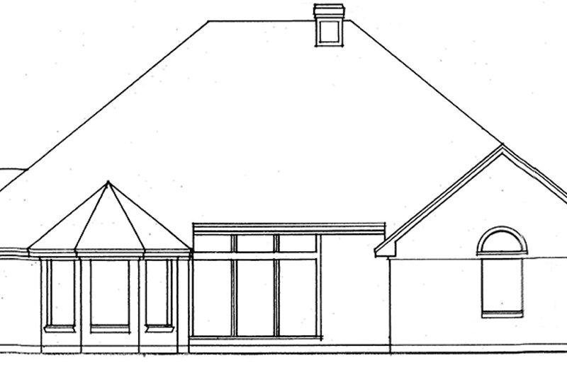 Country Exterior - Rear Elevation Plan #42-707 - Houseplans.com