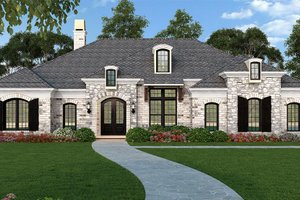 House Plan Design - Ranch Exterior - Front Elevation Plan #119-435