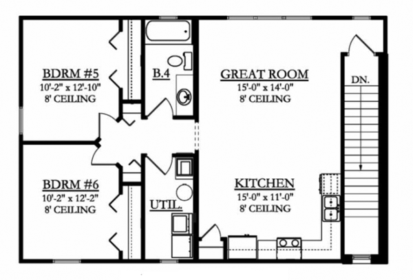 Mediterranean Floor Plan - Upper Floor Plan Plan #1058-81
