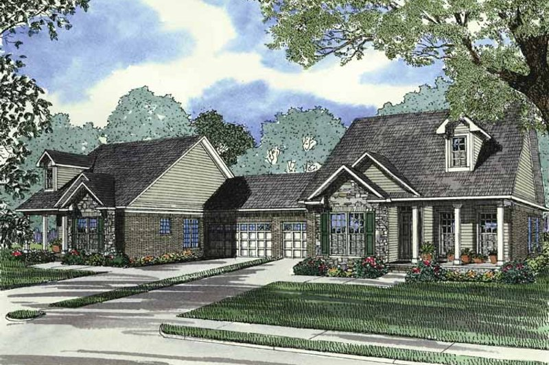 Country Exterior - Front Elevation Plan #17-2782