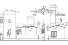 Mediterranean Exterior - Other Elevation Plan #1058-25