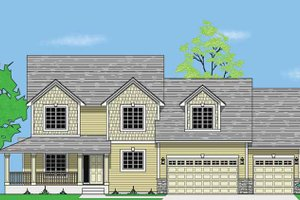 Architectural House Design - Craftsman Exterior - Front Elevation Plan #981-10