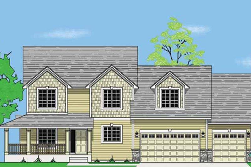 Dream House Plan - Craftsman Exterior - Front Elevation Plan #981-10