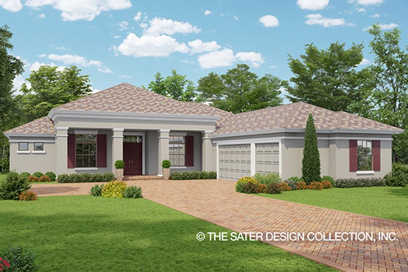 Mediterranean Exterior - Front Elevation Plan #930-464
