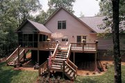 Country Style House Plan - 3 Beds 2 Baths 1787 Sq/Ft Plan #929-242 Exterior - Rear Elevation