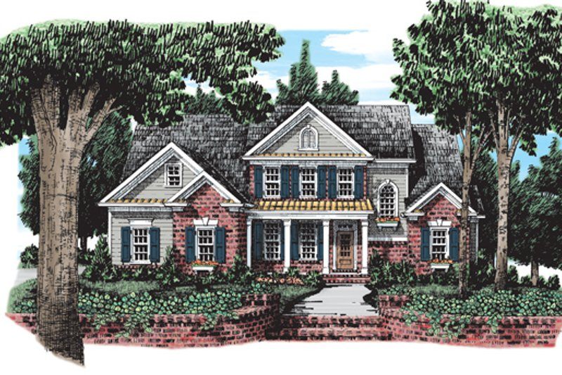 Colonial Exterior - Front Elevation Plan #927-561