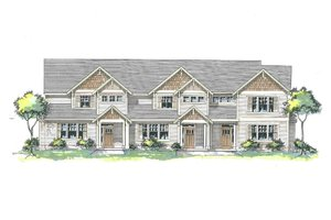 Craftsman Exterior - Front Elevation Plan #53-534