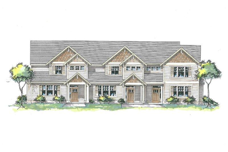 Craftsman Style House Plan - 3 Beds 2 Baths 4718 Sq/Ft Plan #53-534