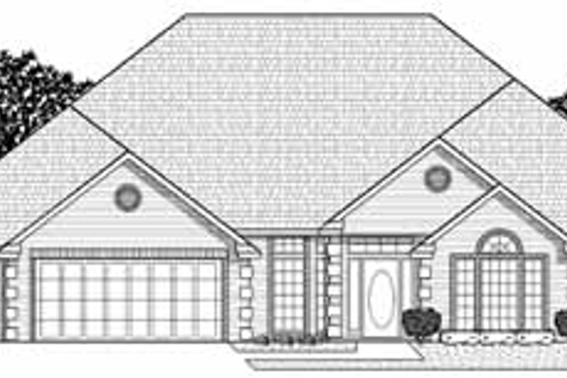 Traditional Style House Plan - 3 Beds 3 Baths 2936 Sq/Ft Plan #65-184 Exterior - Front Elevation