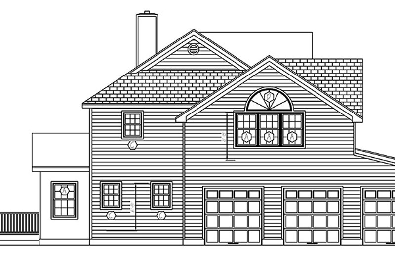 Traditional Exterior - Other Elevation Plan #1061-3 - Houseplans.com