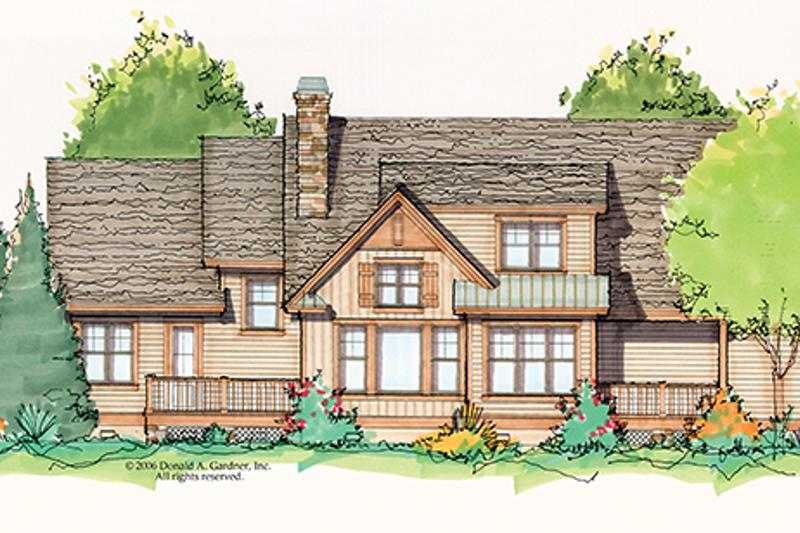 Craftsman Exterior - Rear Elevation Plan #929-934 - Houseplans.com