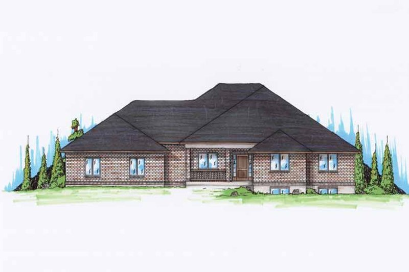 Traditional Exterior - Front Elevation Plan #945-95 - Houseplans.com