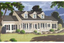 Classical Exterior - Front Elevation Plan #3-297