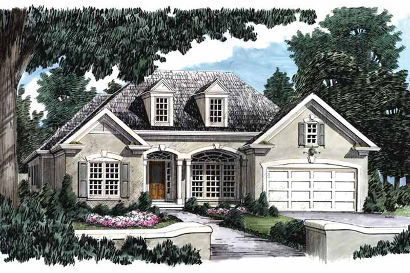 House Design - Mediterranean Exterior - Front Elevation Plan #927-148
