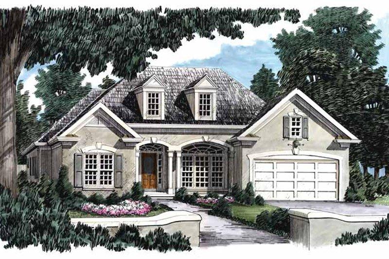 House Plan Design - Mediterranean Exterior - Front Elevation Plan #927-148