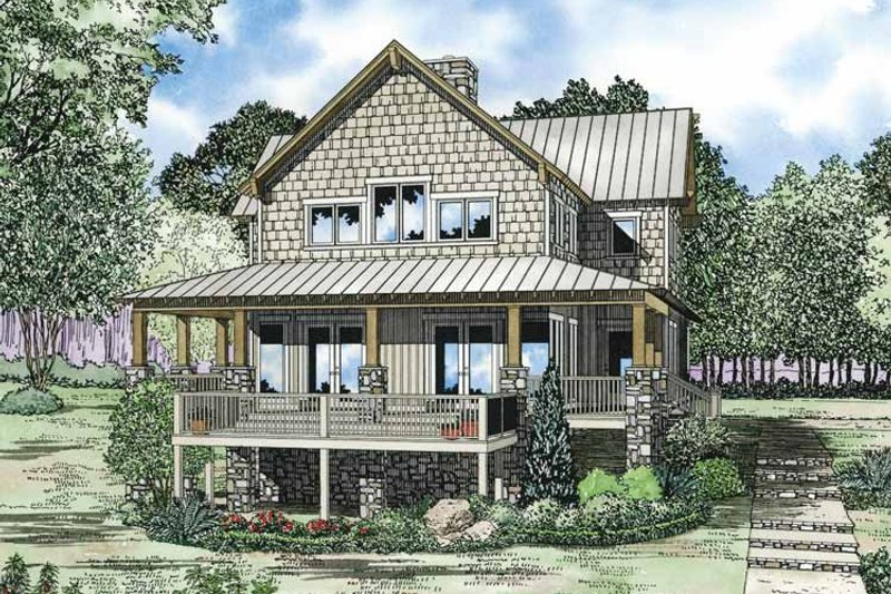 Country Exterior - Front Elevation Plan #17-3305 - Houseplans.com