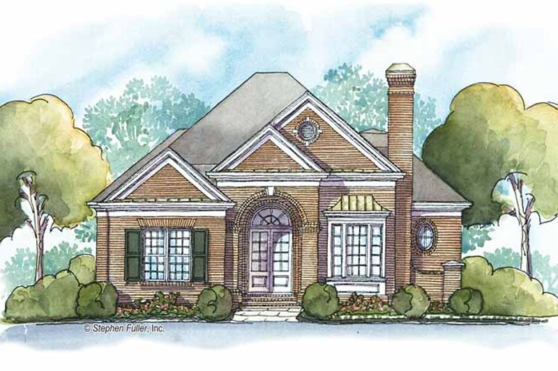 Country Exterior - Front Elevation Plan #429-385