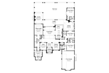 Mediterranean Floor Plan - Main Floor Plan Plan #930-443