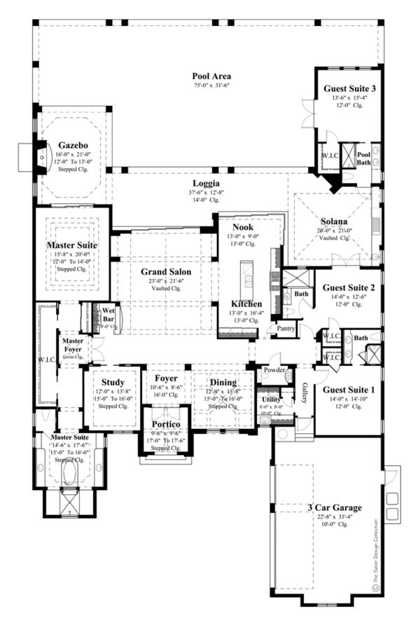 Mediterranean Floor Plan - Main Floor Plan Plan #930-443