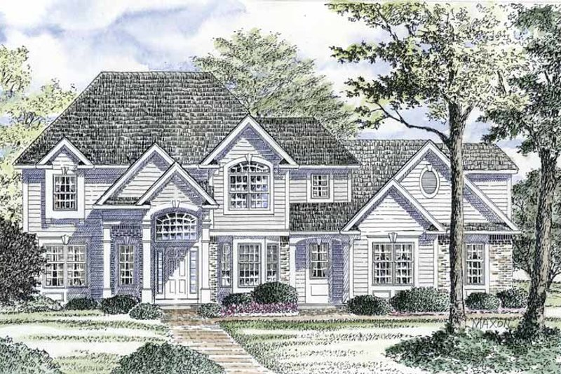 Traditional Exterior - Front Elevation Plan #316-161 - Houseplans.com