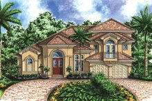 House Design - Mediterranean Exterior - Front Elevation Plan #1017-34