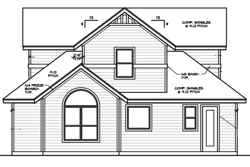 Country Exterior - Rear Elevation Plan #472-396 - Houseplans.com