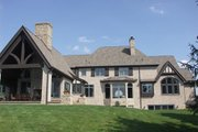 European Style House Plan - 4 Beds 6 Baths 9032 Sq/Ft Plan #458-2 Exterior - Rear Elevation
