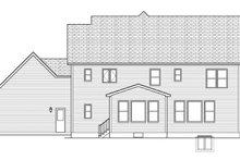 Colonial Exterior - Rear Elevation Plan #1010-163