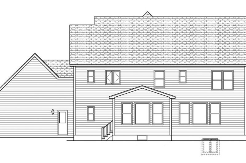 Colonial Exterior - Rear Elevation Plan #1010-163 - Houseplans.com