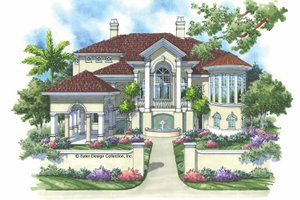 House Design - Mediterranean Exterior - Front Elevation Plan #930-134
