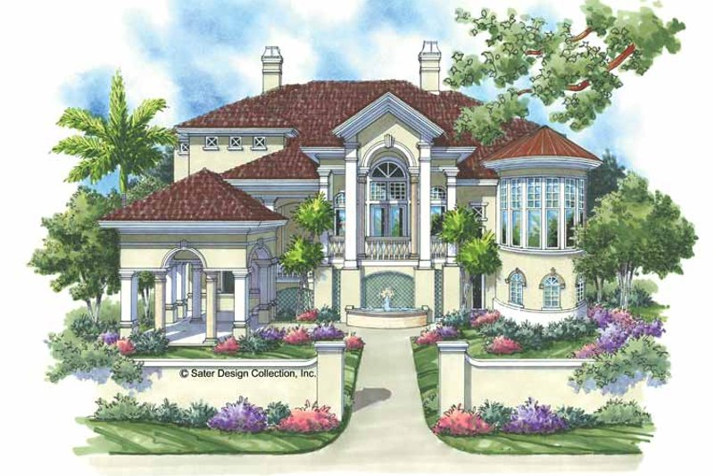 Mediterranean Exterior - Front Elevation Plan #930-134