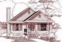 Dream House Plan - Cottage Exterior - Front Elevation Plan #79-163